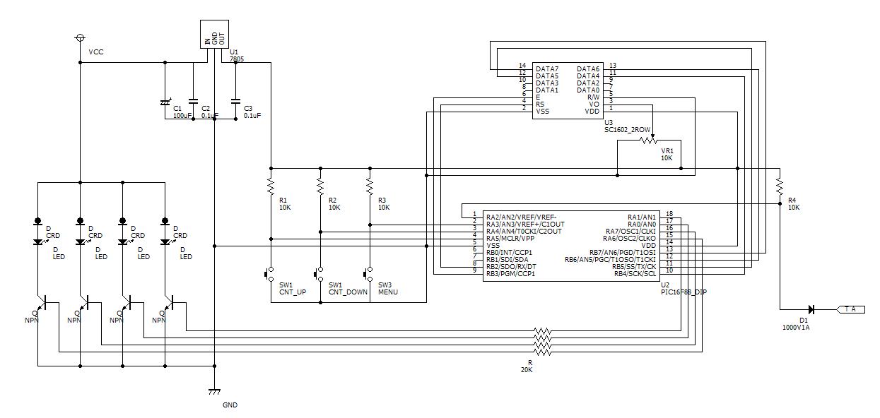 タコメーター回路図
